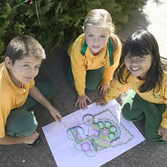 The program is very hands-on, with the children taking an active role in planning, planting and managing their gardens.