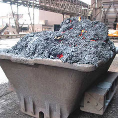 Slag is used in roads, bridges and airport runways.